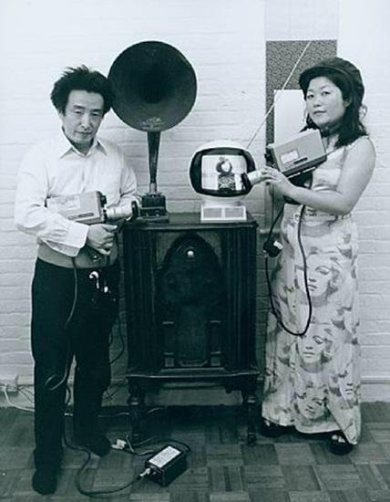 Tom Haar, Shigeko Kubota and Nam June Paik, 1974.Tom Haar.jpg