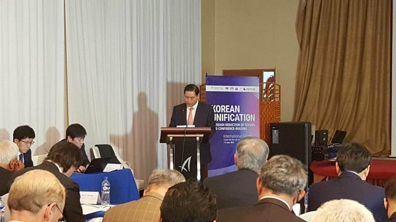 한인동정-정재남 대사, 한반도 통일 국제 포럼 참석.jpg