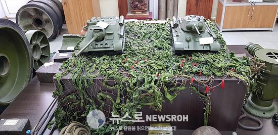 3 우랄마쉬 공장에서 생산되어 한국전쟁에 참가한 전차(바퀴는 실물임).jpg
