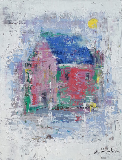 East Side 19-M08 Oil on canvas 40.9x31.8cm2019(F6).jpg