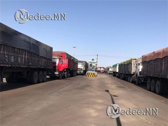 간츠모드 국경 세관, 석탄 실은 화물차량 20% 증가.jpg