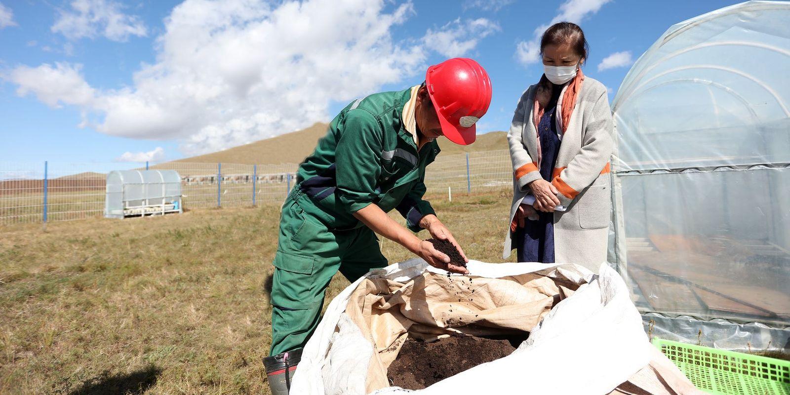 동물의 배설물을 재활용하여 유기 비료를 생산.jpg