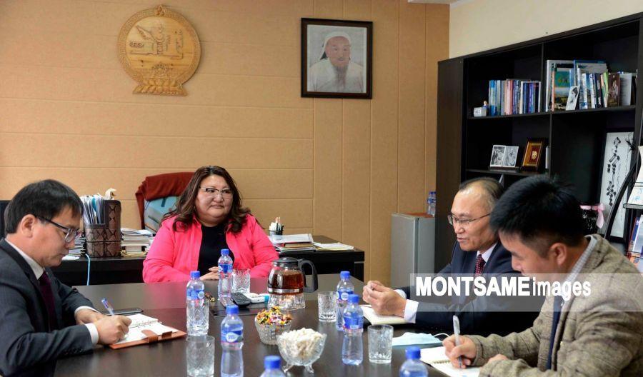 MONTSAME 신문사 국장, 주몽골북한 대사와 만나.jpeg