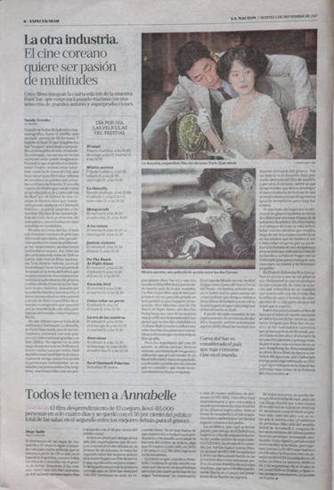 현지언론_라나시온_9월5일자_또 다른 산업. 아르헨 관객들의 사랑을 기다리는 한국영화.jpg
