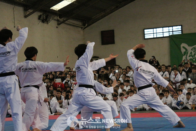 7월 8일 티그레 시청 산하 사르미엔토 체육관 국기원태권도시범단 공연 (2).jpg