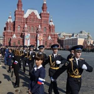 붉은 광장의 군사퍼레이드
