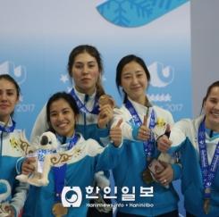 카자흐스탄, 여 쇼트트랙 3000미터 릴레이 동메달 획득