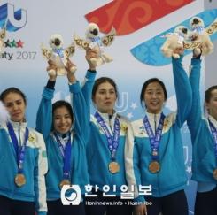 [알마티 동계U대회] 카자흐스탄 여자 쇼트트랙, 여자 3000미터 릴레이 동메달