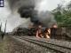 연일 내린 비로 철도 전복 사고, 사망자 발생