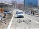 교통경찰서 부근 다리 공사와 관련 개통된 도로 임시 통제