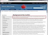 캐나다 국가보훈부 한국역사 오류 수정