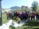 충북 청주 산경산악회 회원들, 몽골 이태준 기념 공원 방문해 헌화