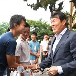 차범근감독 재일조선학교 방문