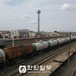 끄즐오르다 역 전경