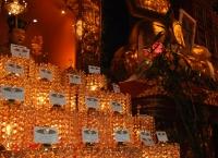 티벳사원에서 노회찬의원의 불을 밝히다
