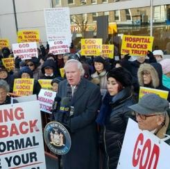 뉴욕병원 폭행사건 한인사회 항의시위
